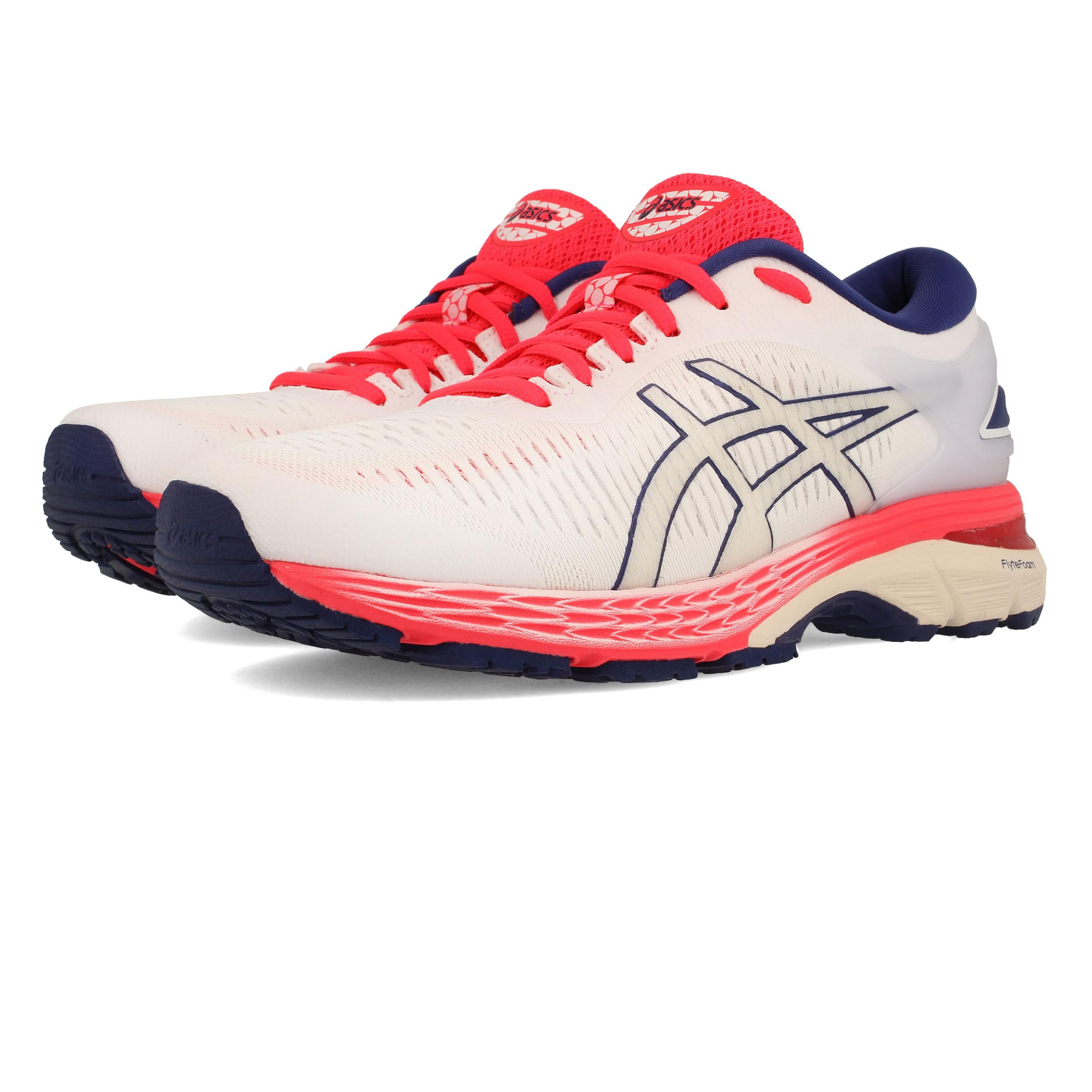 Asics Damenschuhe Gel-Kayano 25 Running Schuhes Trainers Turnschuhe Weiß Sports