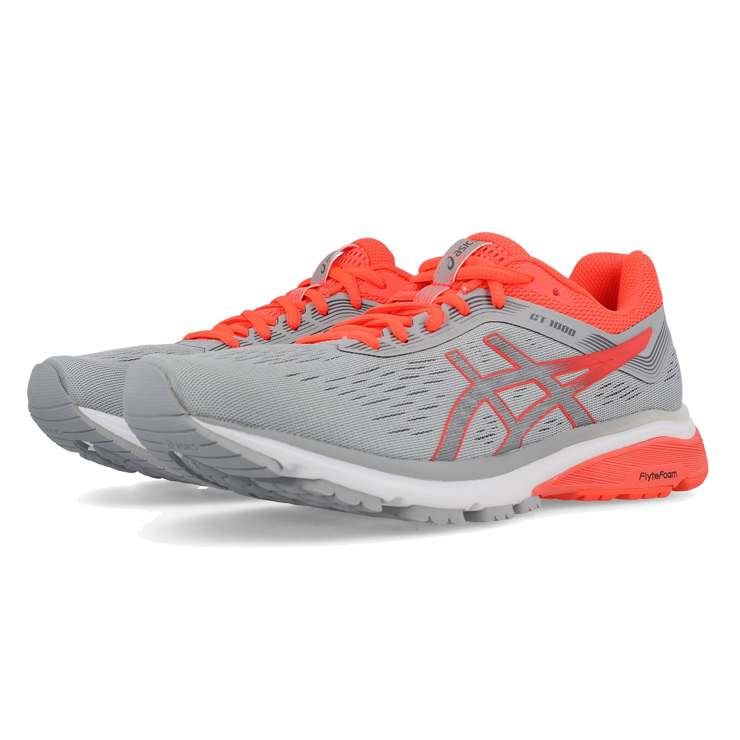 73fd12f7 Asics Mujer Gt-1000 7 Correr Zapatos Zapatillas Gris Deporte Transpirable