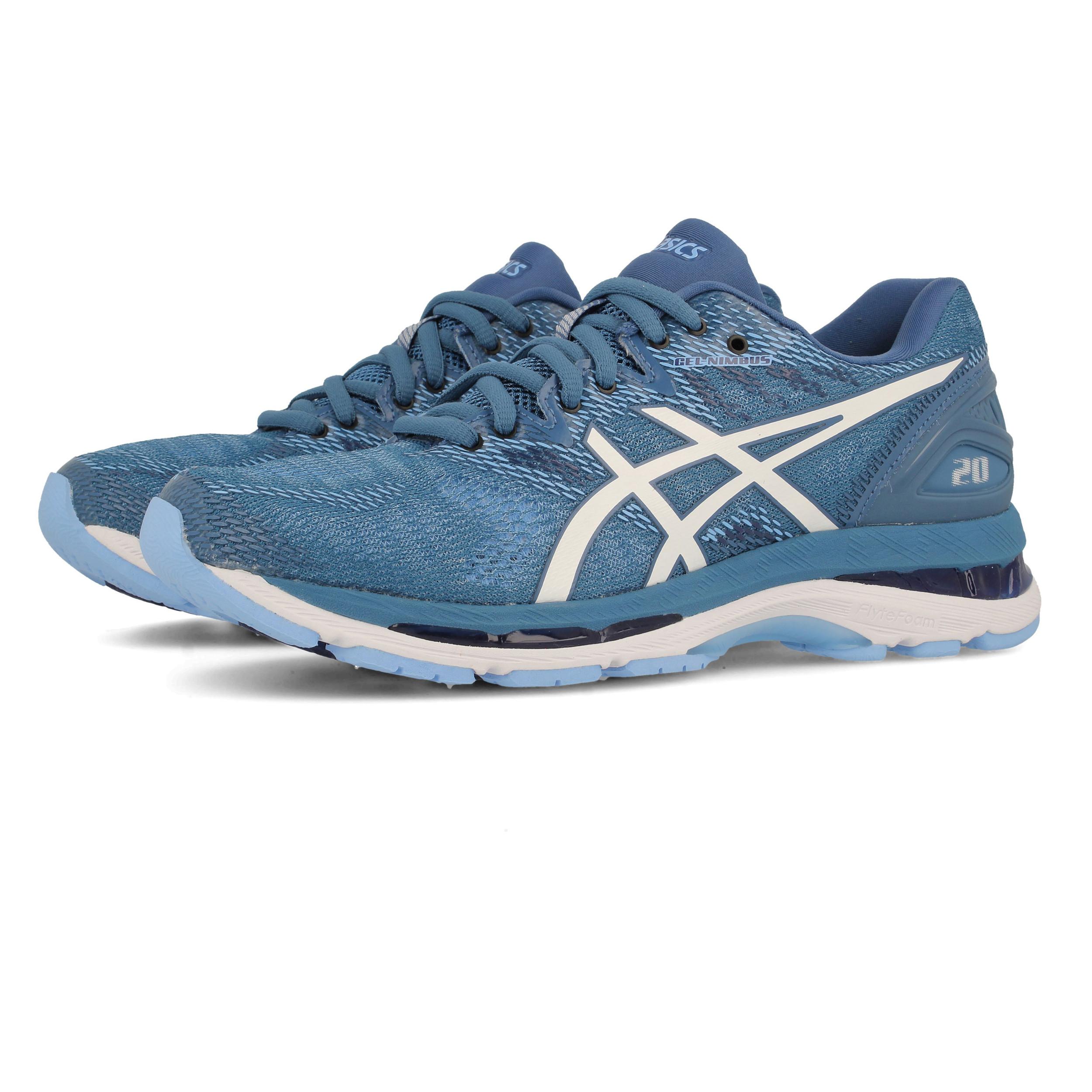 ASICS Donna Gel Nimbus 20 Scarpe da Ginnastica Corsa Sneakers Blu Sport ca74c6af611