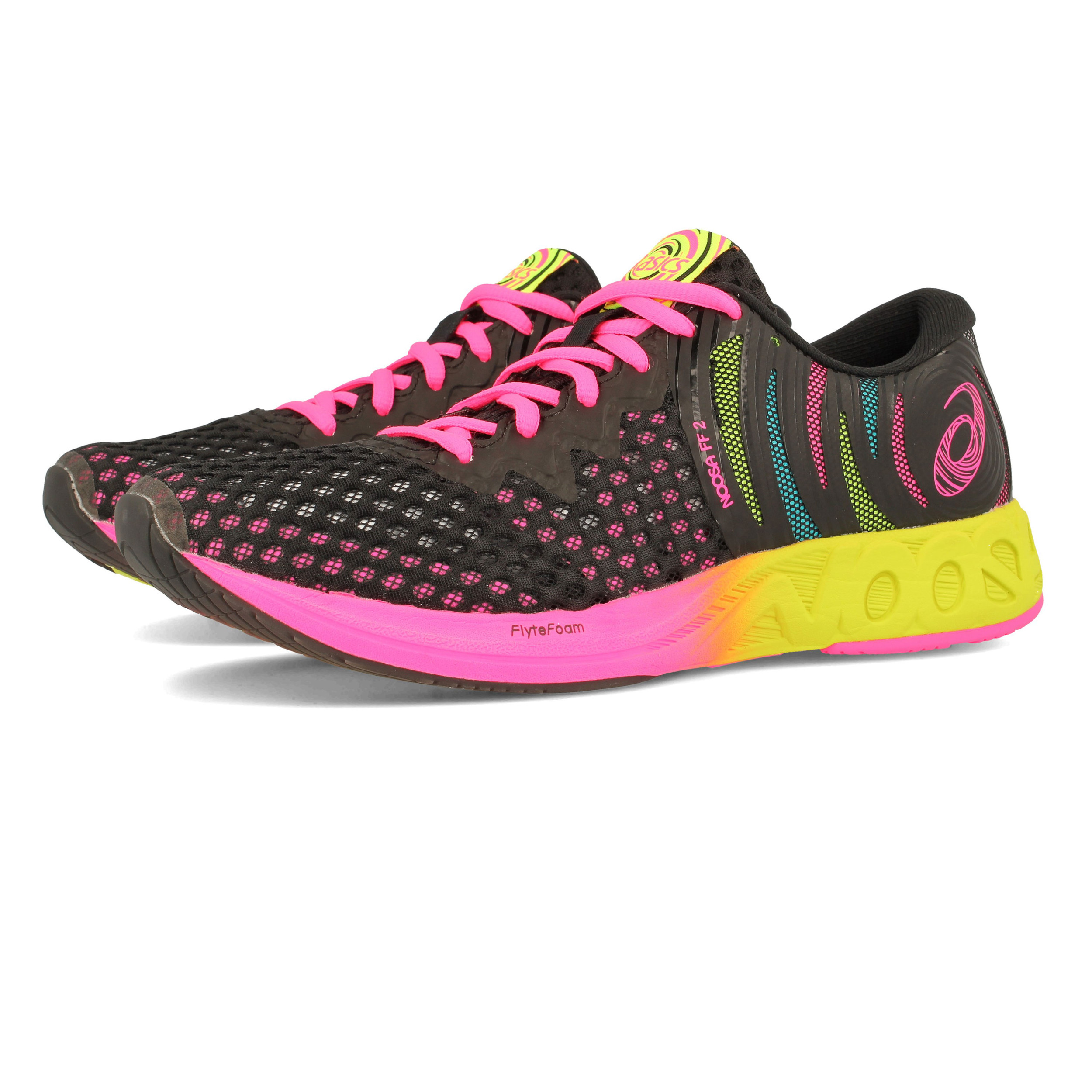 065f1d2fe Asics Mujer Gel-noosa Ff 2 Correr Zapatos Zapatillas Negro Deporte Running