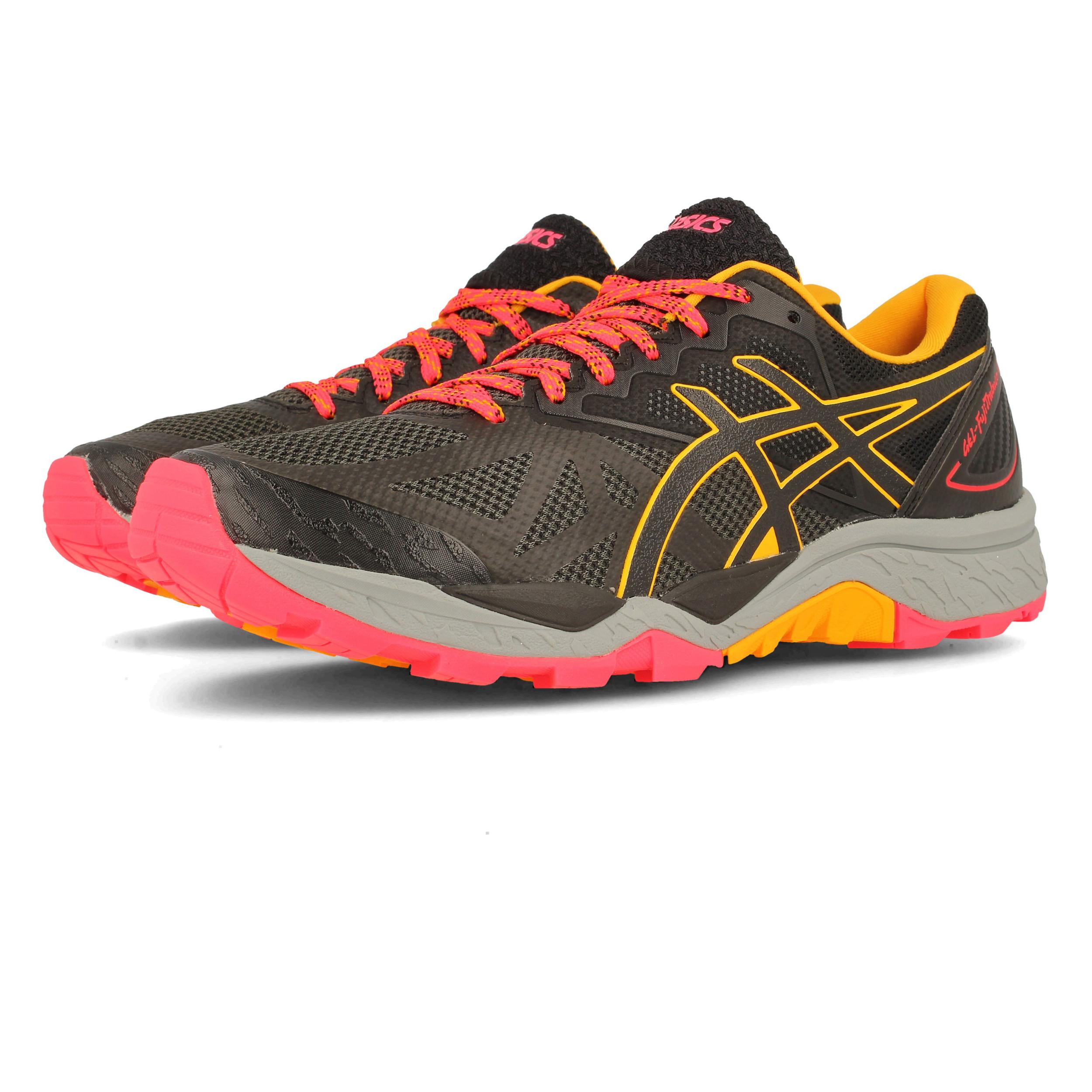 Asics Mujer Gel-fujitrabuco 6 Sendero Correr Zapatos Zapatillas Negro  Running c99f8ec4aac67