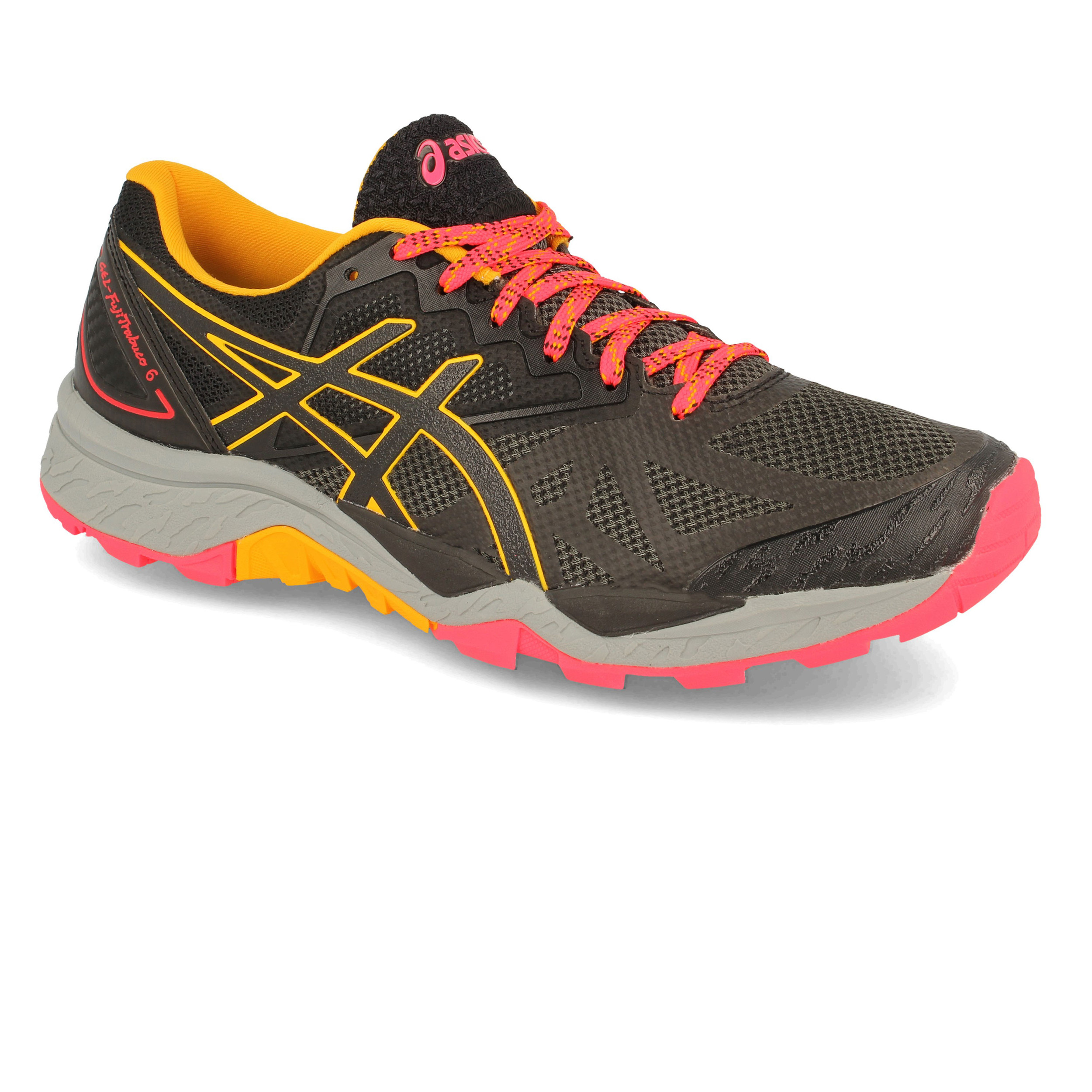 59a20471263 Asics Mujer Gel-fujitrabuco 6 Sendero Correr Zapatos Zapatillas Negro  Running