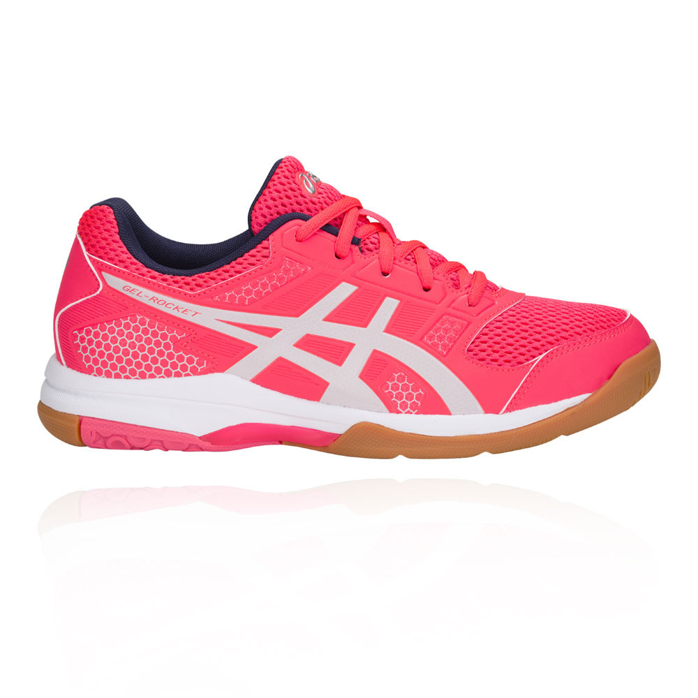 Asics Damenschuhe Gel-Rocket 8 Court Schuhes Pink Breathable Breathable Pink Lightweight Trainers dac9ed
