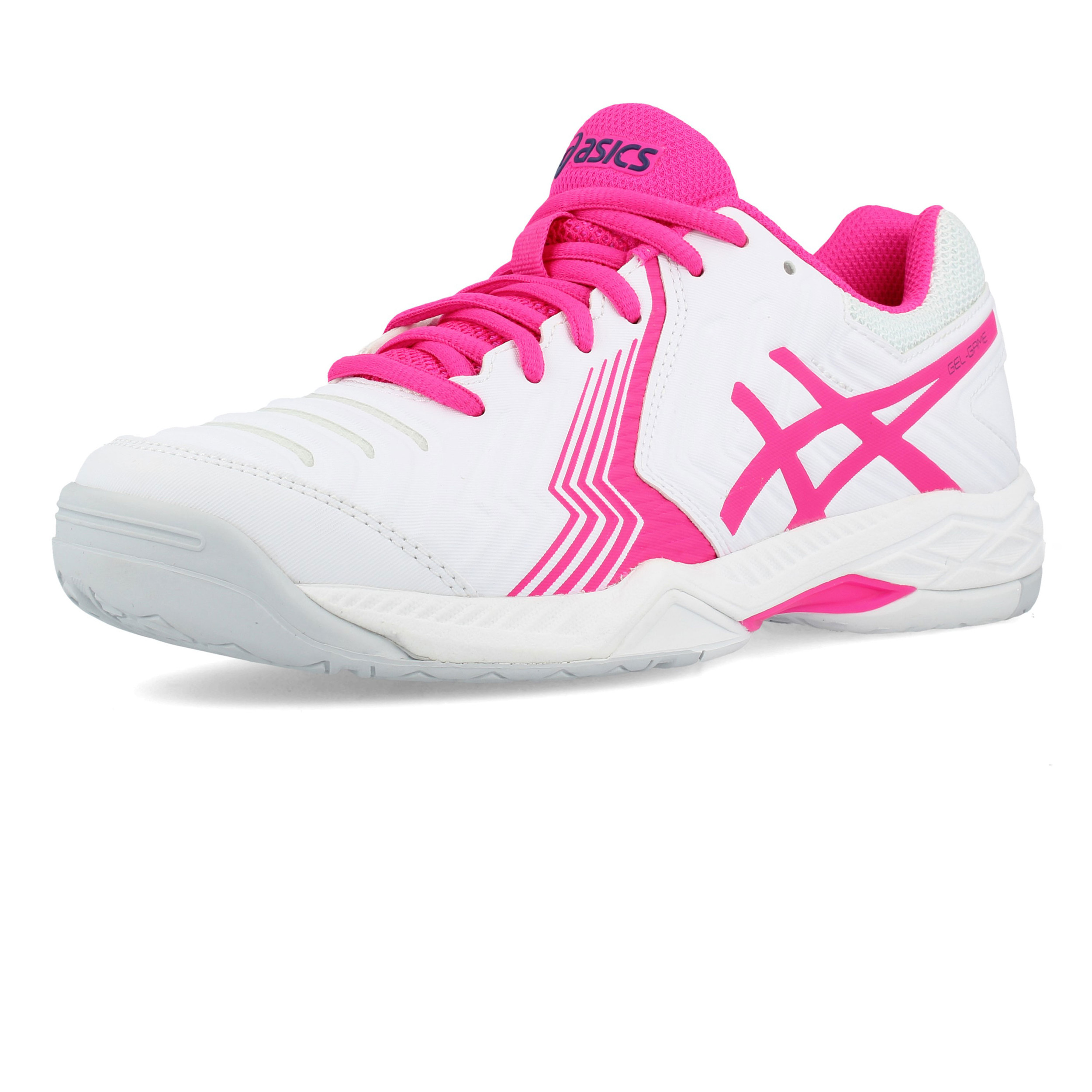 Details about Asics Womens Gel-Game 6 Tennis Shoes White Breathable  Lightweight Trainers a3417b1cf914c