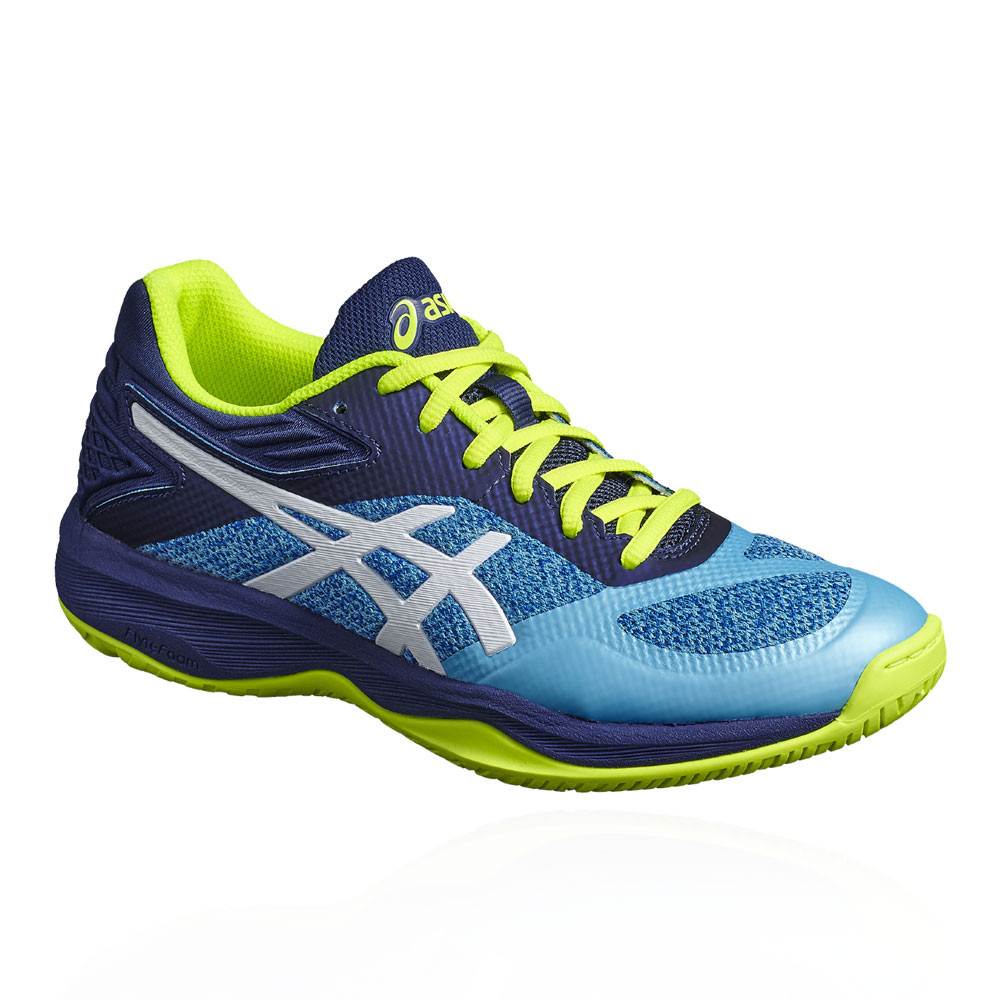 b7f44951673a Details about Asics Womens Gel-Netburner Ballistic FF Netball Shoes Blue  Breathable Trainers