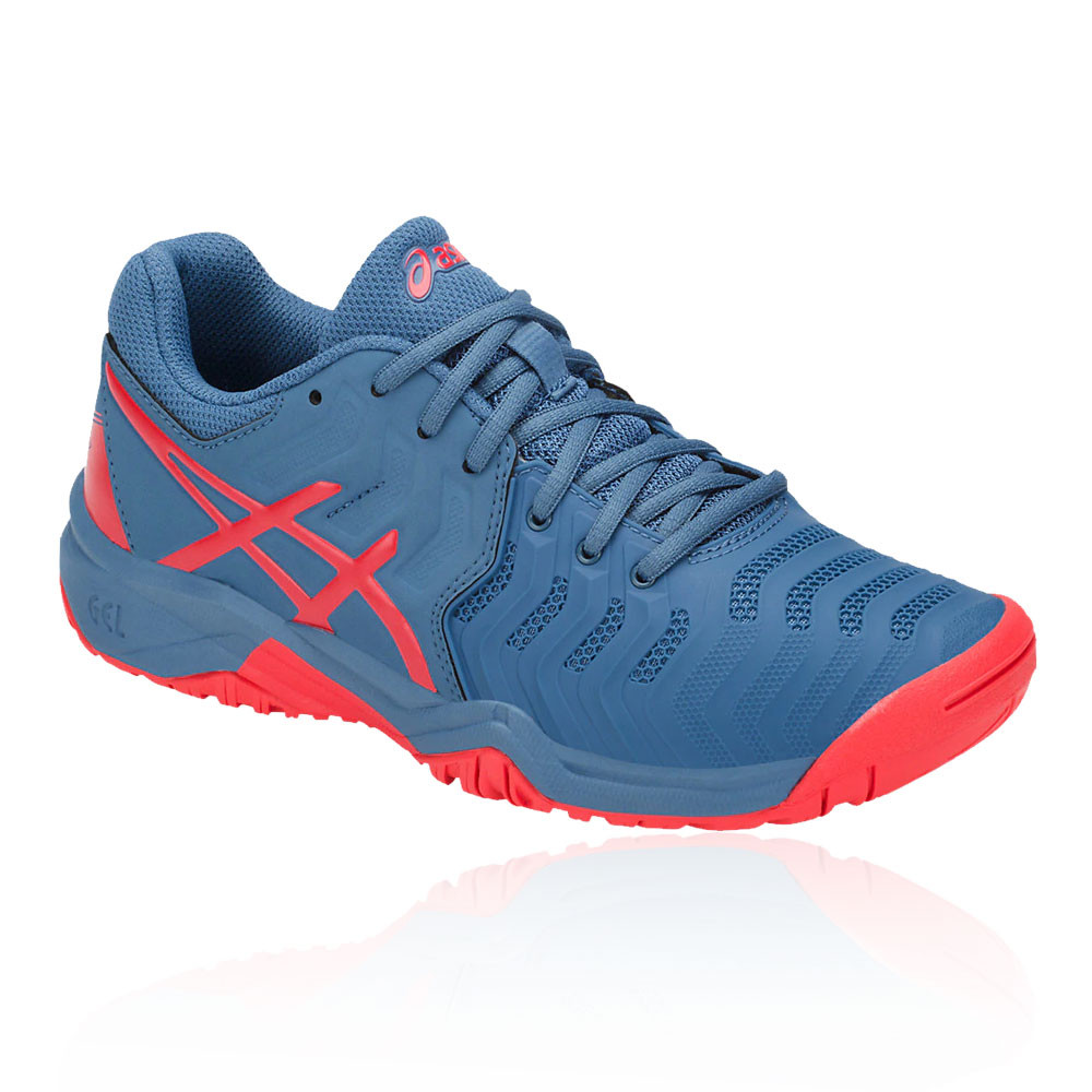 8c654a58d Asics Boys Gel-resolution 7 Gs Júnior Tenis Zapatos Azul Deporte  Transpirable