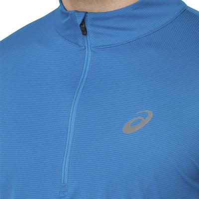 Asics Silver Long Sleeve 1/2 Zip Top