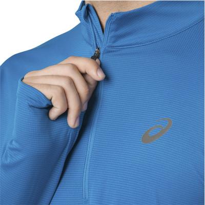 Asics Silver Long Sleeve Half Zip Top