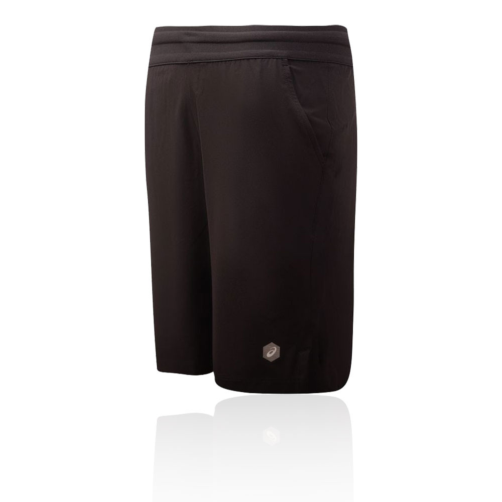 Dettagli su ASICS Uomo Pantaloncini Attillati Shorts Nero Sport Corsa Traspiranti Leggeri