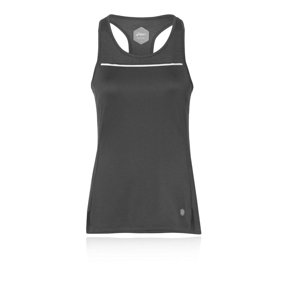 Asics Femmes Lite-Show Top T Shirt Débardeur Blanc Sport Jogging Respirant  Léger 7ca5c8245de