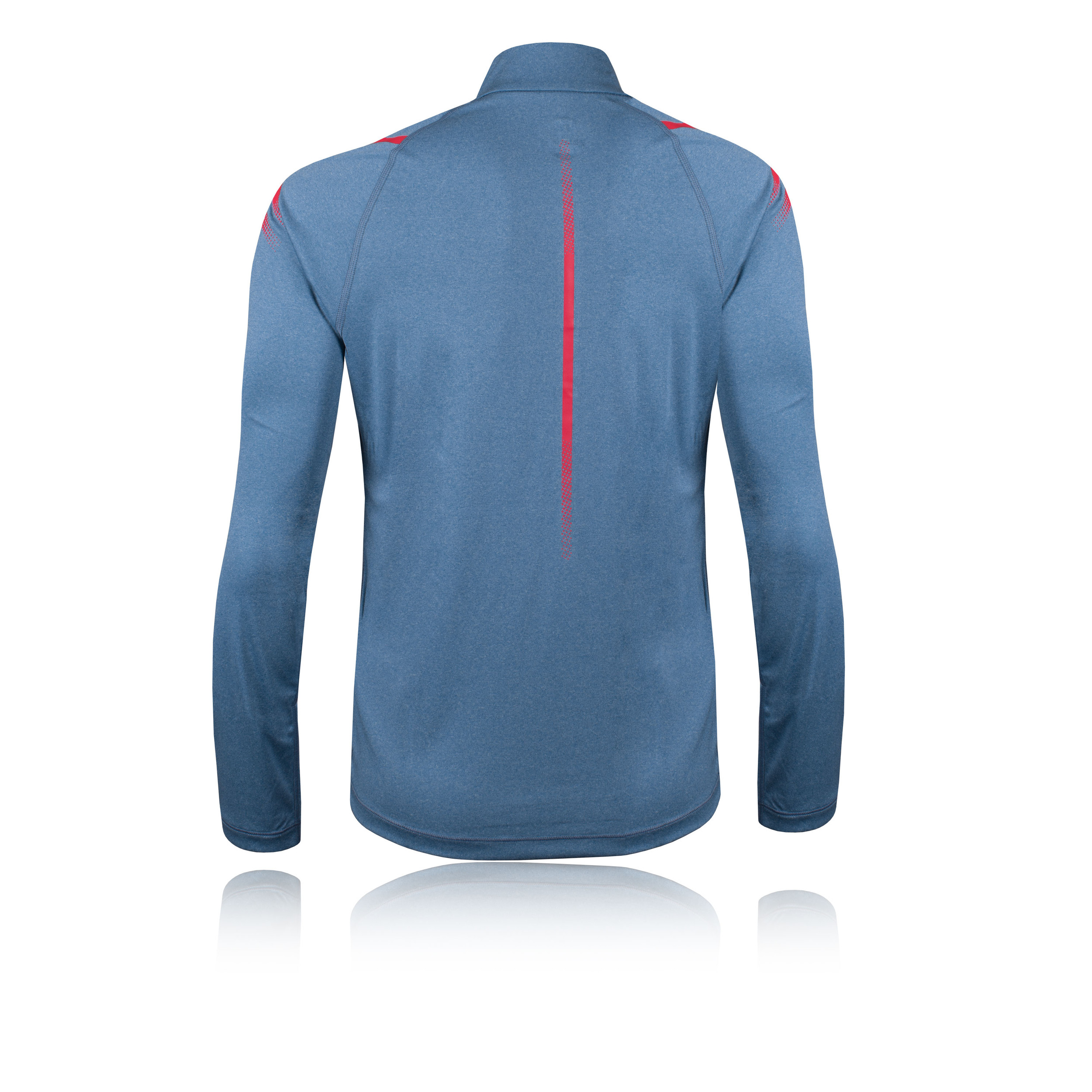 Asics Womens Icon Long Sleeved 1/2 Zip Top Blue Sports