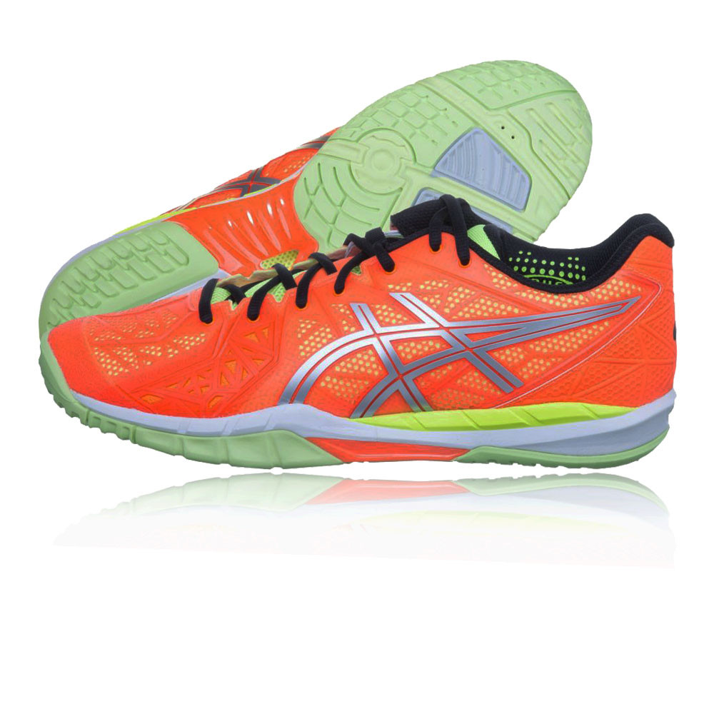 Details about Asics Mens Gel Fireblast 2 Indoor Court Shoe Orange Yellow Sports Trainers