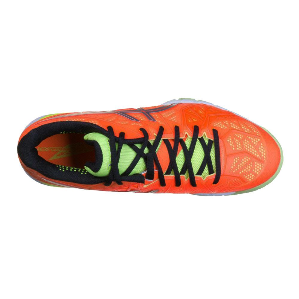 Détails sur Asics Hommes Gel Fireblast 2 Indoor Court Chaussures Sport Baskets Orange Jaune
