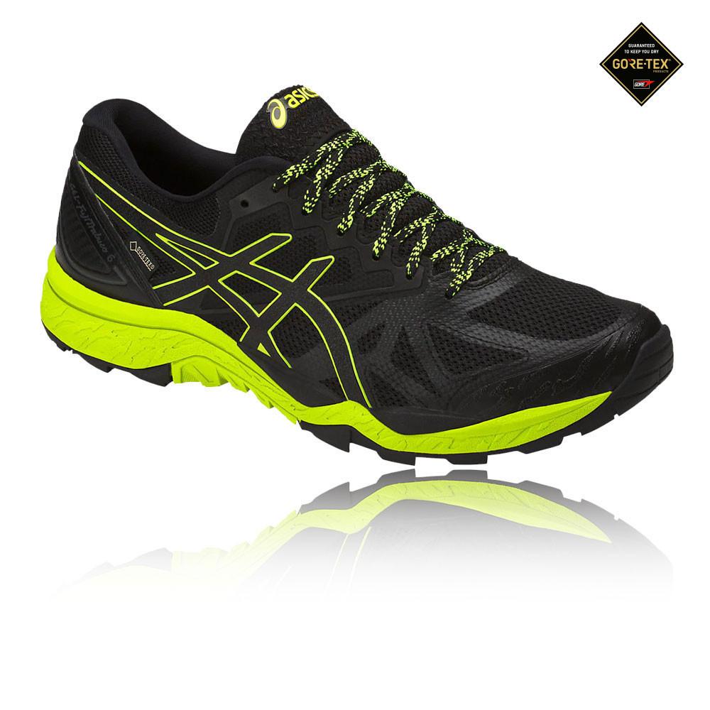 4523b5c2 Asics Hombre Gel-fujitrabuco 6 Gtx Sendero Correr Zapatos Zapatillas Negro