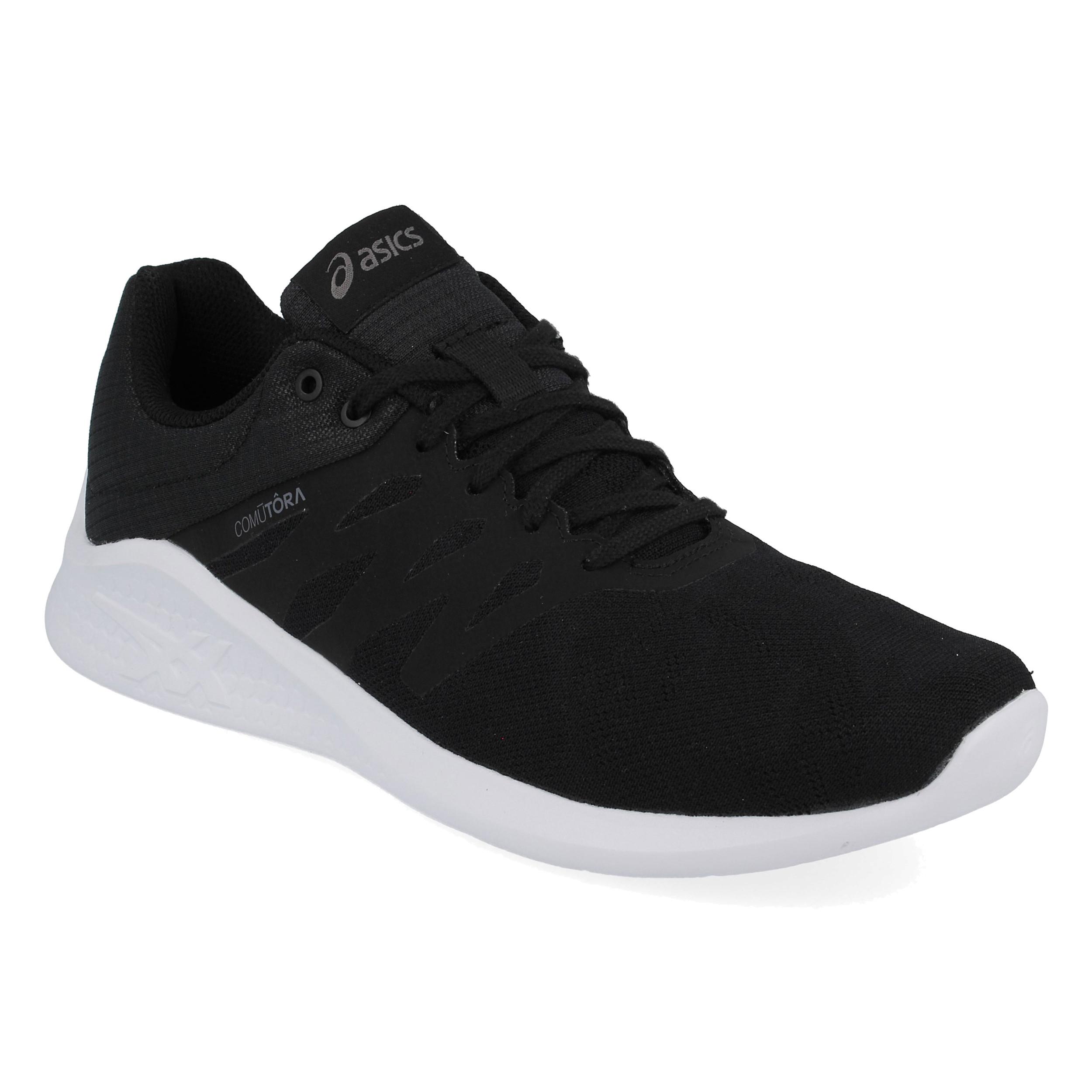 Detalles de Asics Hombre Comutora Mx Correr Zapatos Zapatillas Negro Deporte Gimnasio