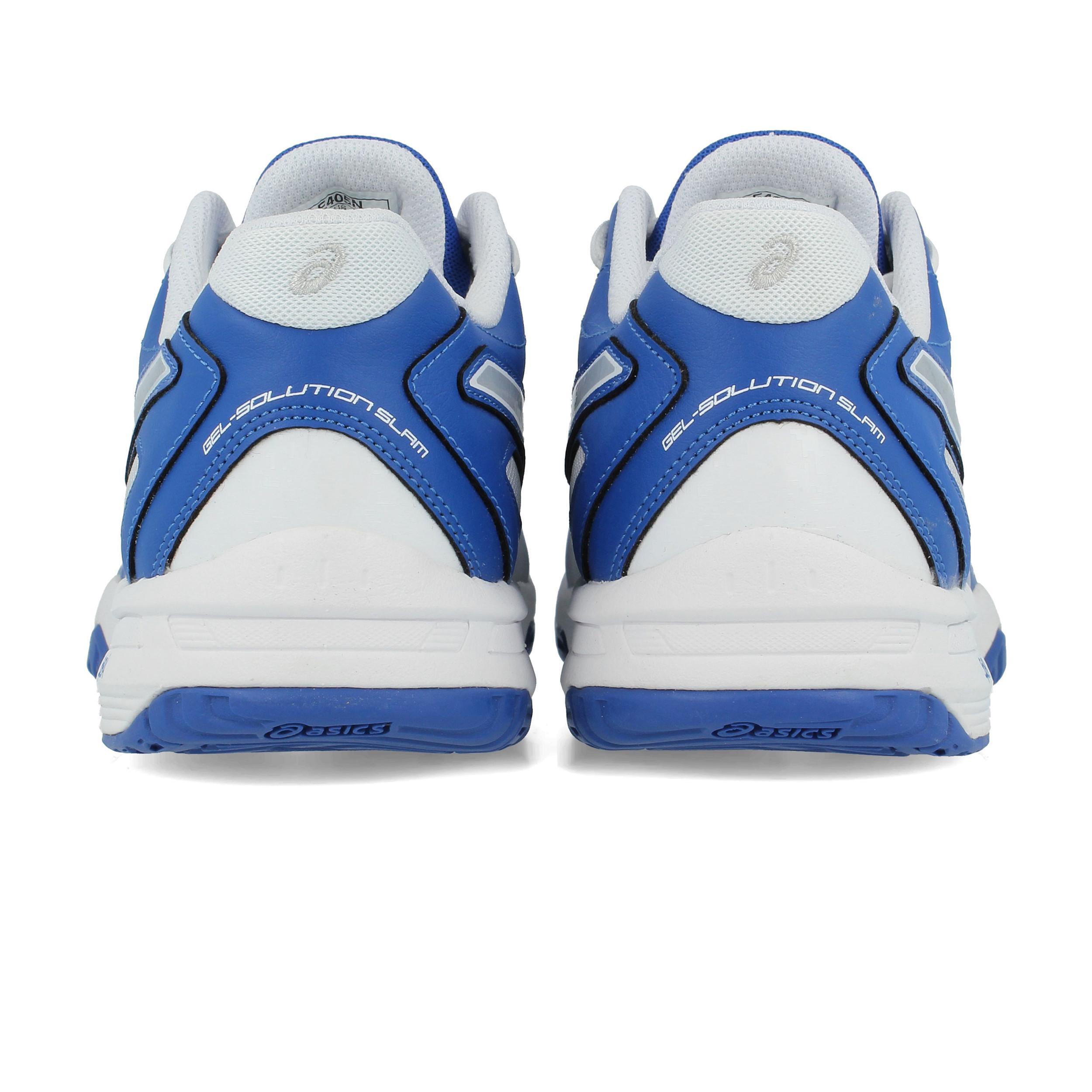 Asics Mens Gel-Solution Slam 2 Tennis Shoes Blue White Breathable Trainers d3bc90383d2