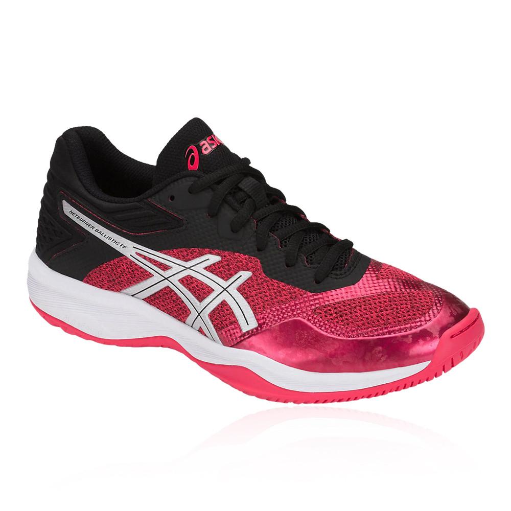 Asics femmes Gel-Netburner Ballistic FF Netball Chaussures noir rose Sports