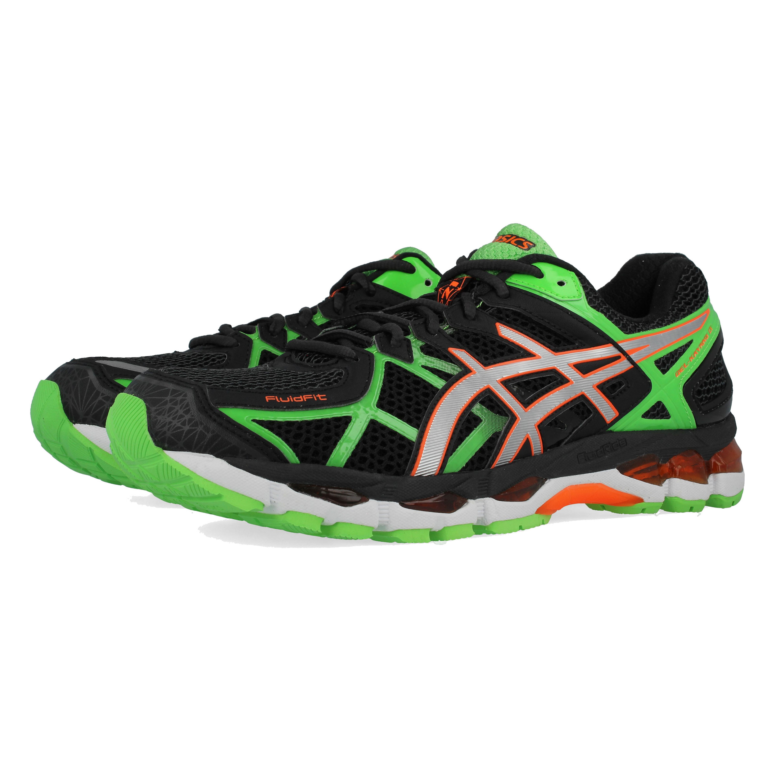 quality design 792af 29b4a Asics Mens Gel-Kayano 21 Running Shoes Trainers Sneakers Black Green Sports
