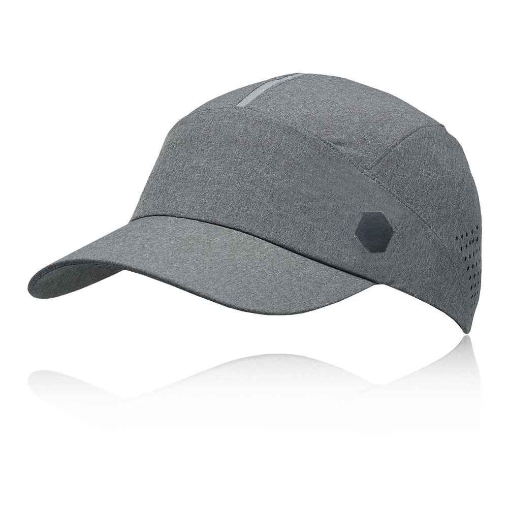 Details about Asics Unisex Running Cap Grey Sports Breathable Reflective  Lightweight d53f6ad93f9