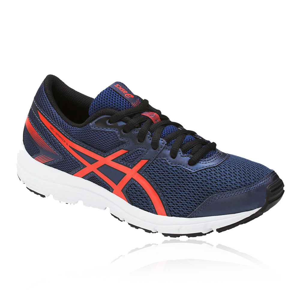 38a39ee1ac3e0 Details about Asics Boys Girls GEL-ZARACA 5 GS Junior Running Shoes  Trainers Sneakers Blue