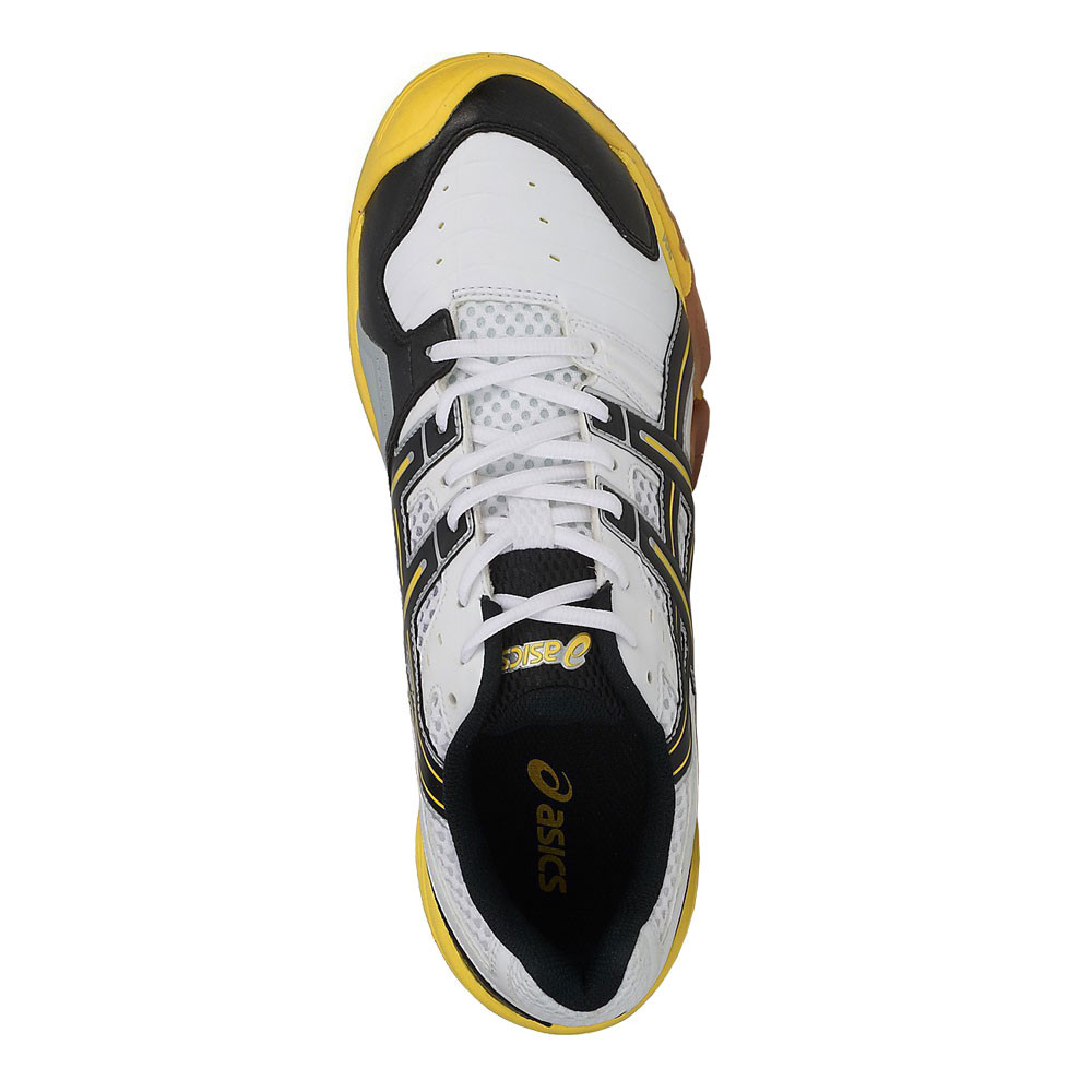 hot sales 7b2dc d9727 Asics Hommes Gel-Domain Chaussures De Sport En Salles Baskets Blanc Handball