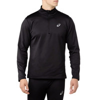 ASICS Silver Long Sleeve 1/2 Zip Winter Running Top
