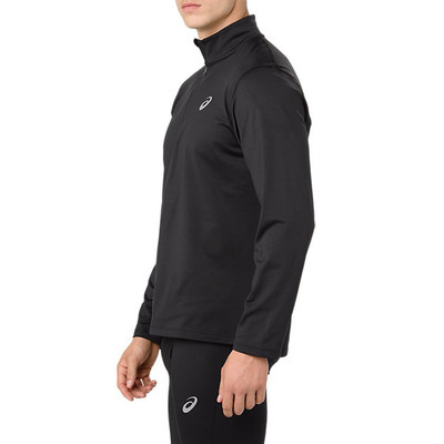 ASICS Silver de manga larga media cremallera Winter camiseta de running