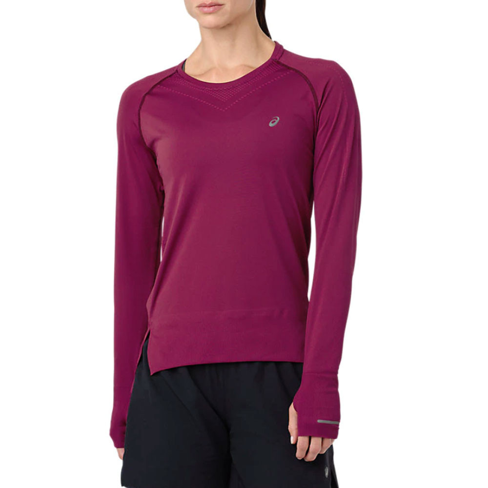 45239e9d Details about Asics Womens Seamless Long Sleeved Running Top Purple Sports  Breathable