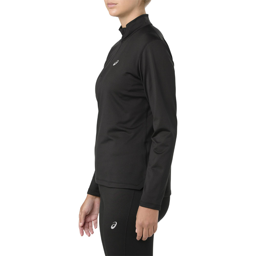 795f3f80c7a ... ASICS Silver Long Sleeve 1/2 Zip Women's Winter Running Top ...