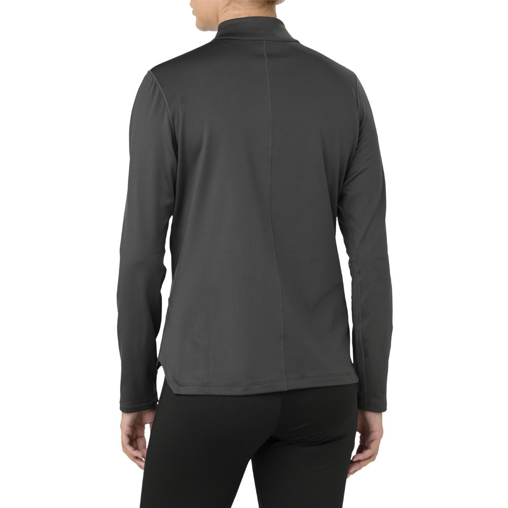 99ad4281dcc Details about Asics Womens Silver Long Sleeve 1/2 Zip Winter Running Top  Grey Sports Half