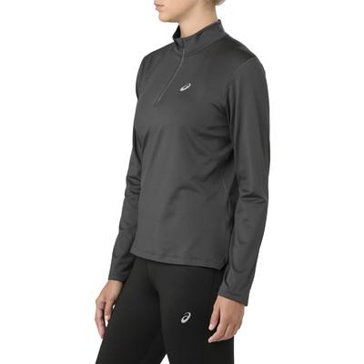 ASICS Silver Long Sleeve 1/2 Zip Women's Winter Running Top