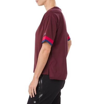 ASICS Mix Fabric Short Sleeve Women's Top