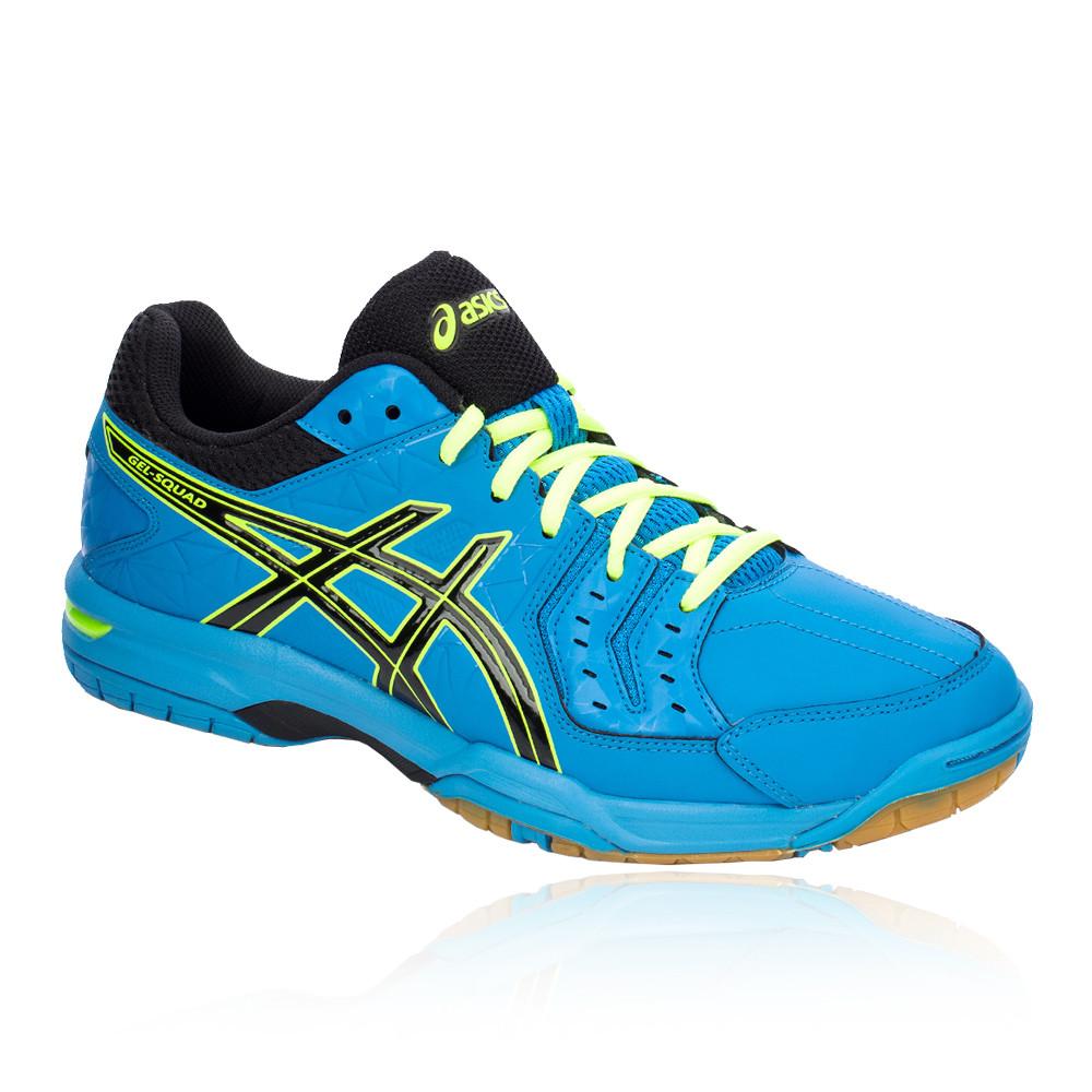 Détails sur Asics Homme Gel Squad Indoor Court Shoes Blue Sports Handball Respirant Baskets afficher le titre d'origine