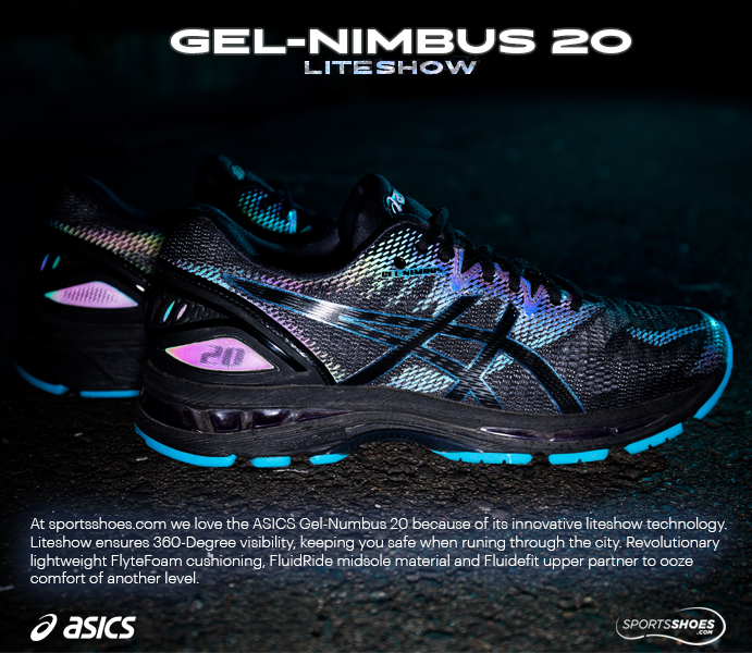 ASICS Gel-Nimbus 20 Lite Show Running Shoes - AW18 - 40% Off ... 6e4bdf9e1fd09