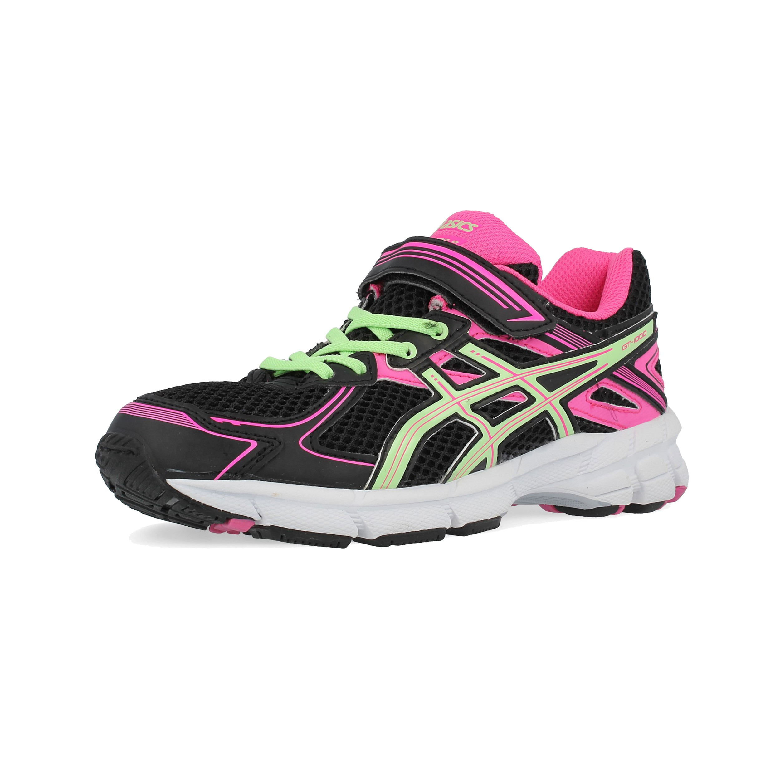 1579aff1a23a Details about Asics Junior GT-1000 2 PS Running Shoes Trainers Sneakers  Black Sports