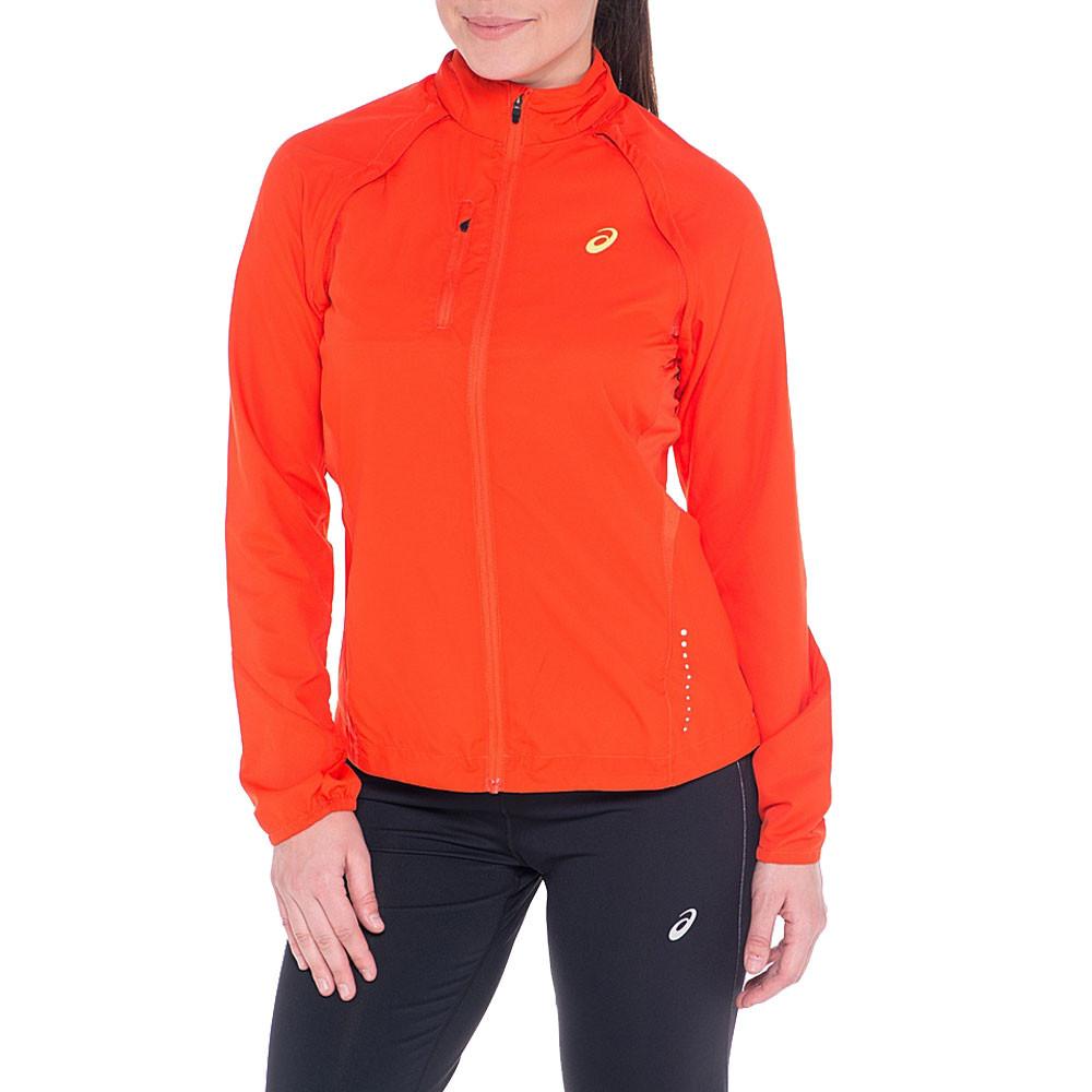 Détails sur Asics Femmes Convertible Veste De Sport Blouson Top Rouge Jogging Zip Intégral
