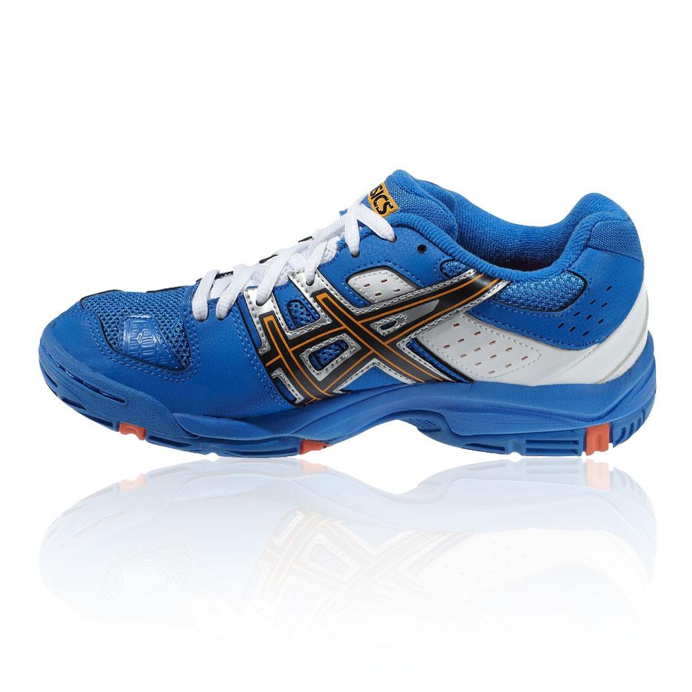 Détails sur Asics Junior Gel Blast 5 GS Cour Chaussures Bleu De Sport Badminton Squash Respirant afficher le titre d'origine