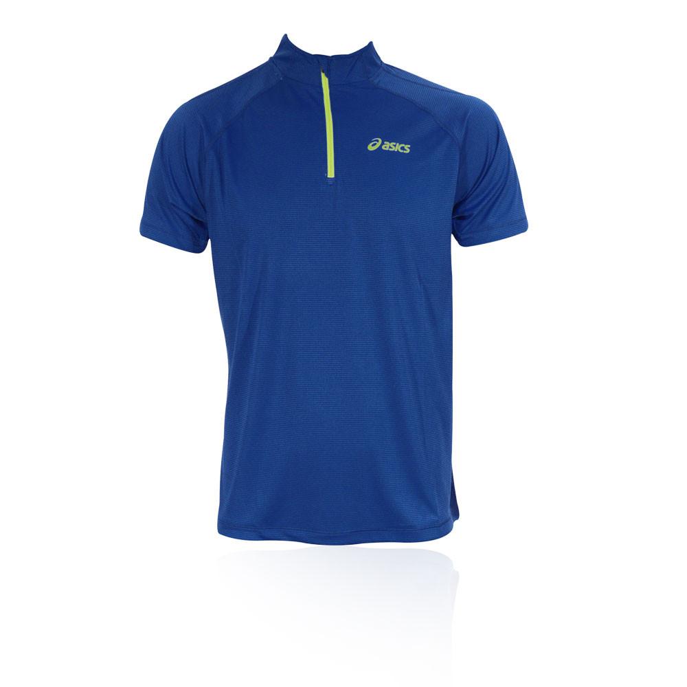 Asics Mile media cremallera de manga corta camiseta de running