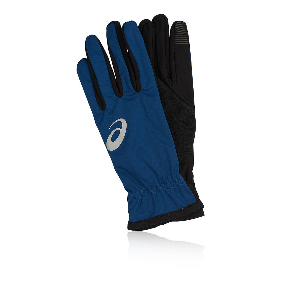 Asics Unisex Winter Performance Gloves Navy Blue Sports Running Warm  Breathable 1c7bae484379