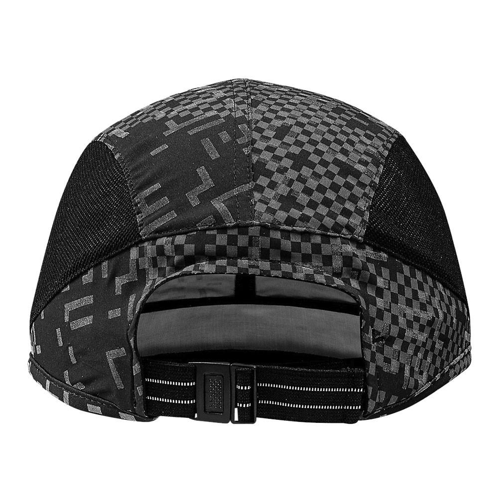 7dbb6c4753 Dettagli su ASICS Unisex Performance Lyte Cappello Cappellino Nero Sport  Corsa Traspirante