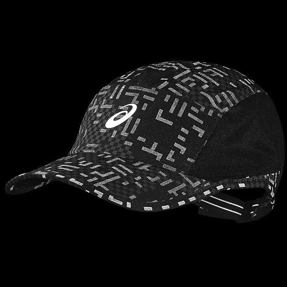 c5f61f2e28a1 Asics Unisex Performance Lyte Cap Black Sports Running Breathable Reflective