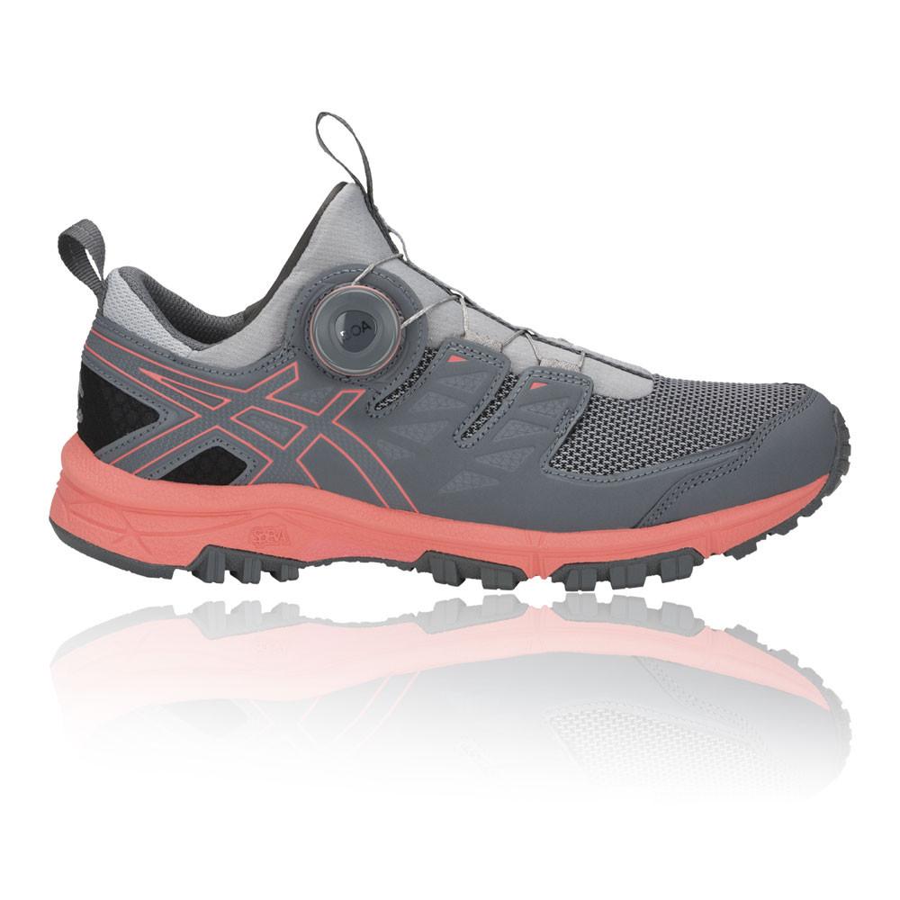 4bb68b990 Asics Mujer Gel-fujirado Sendero Correr Zapatos Zapatillas Gris Deporte