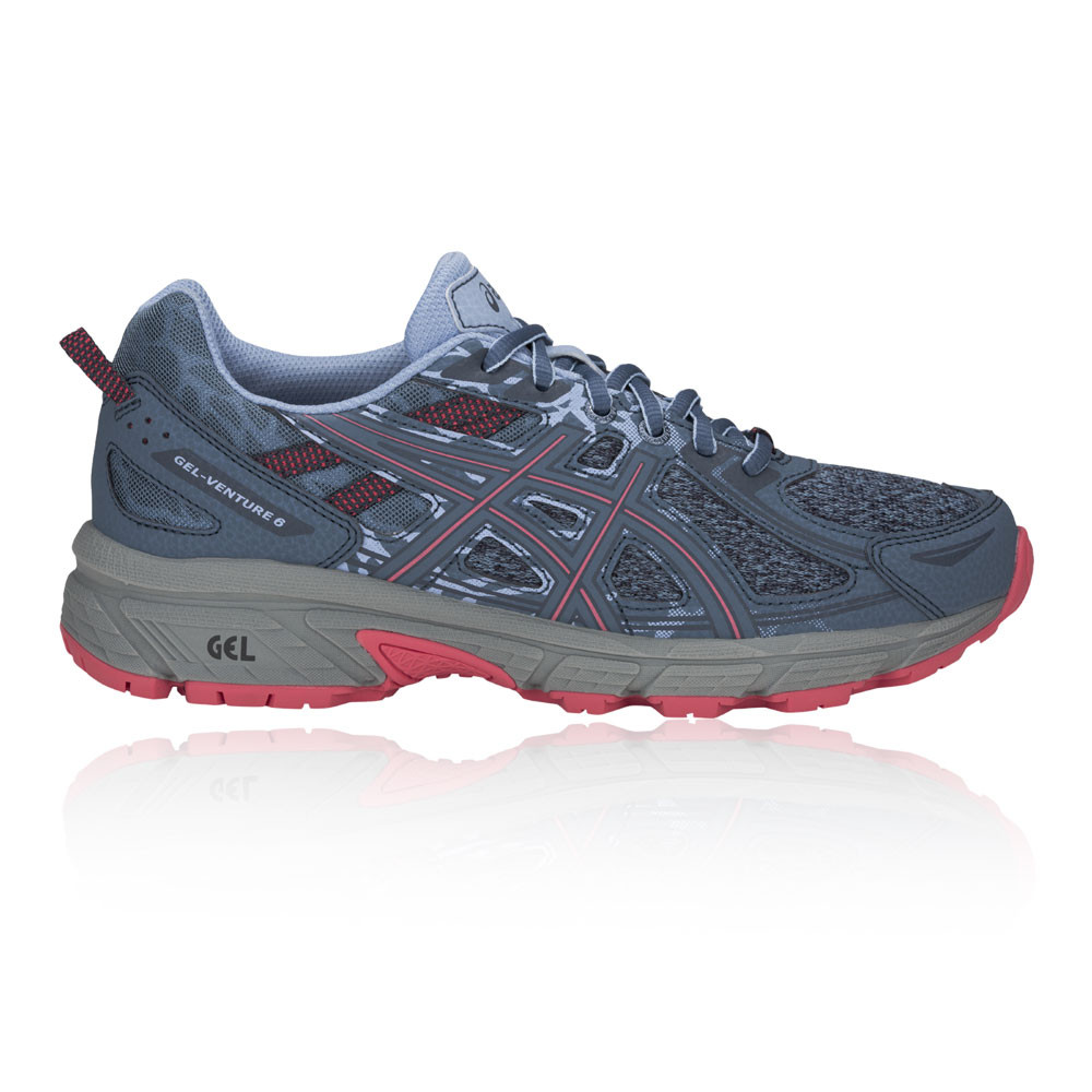 Asics Womens Gel-Venture 6 Trail Running Shoes Trainers Sneakers Blue Sports 20a726e902000
