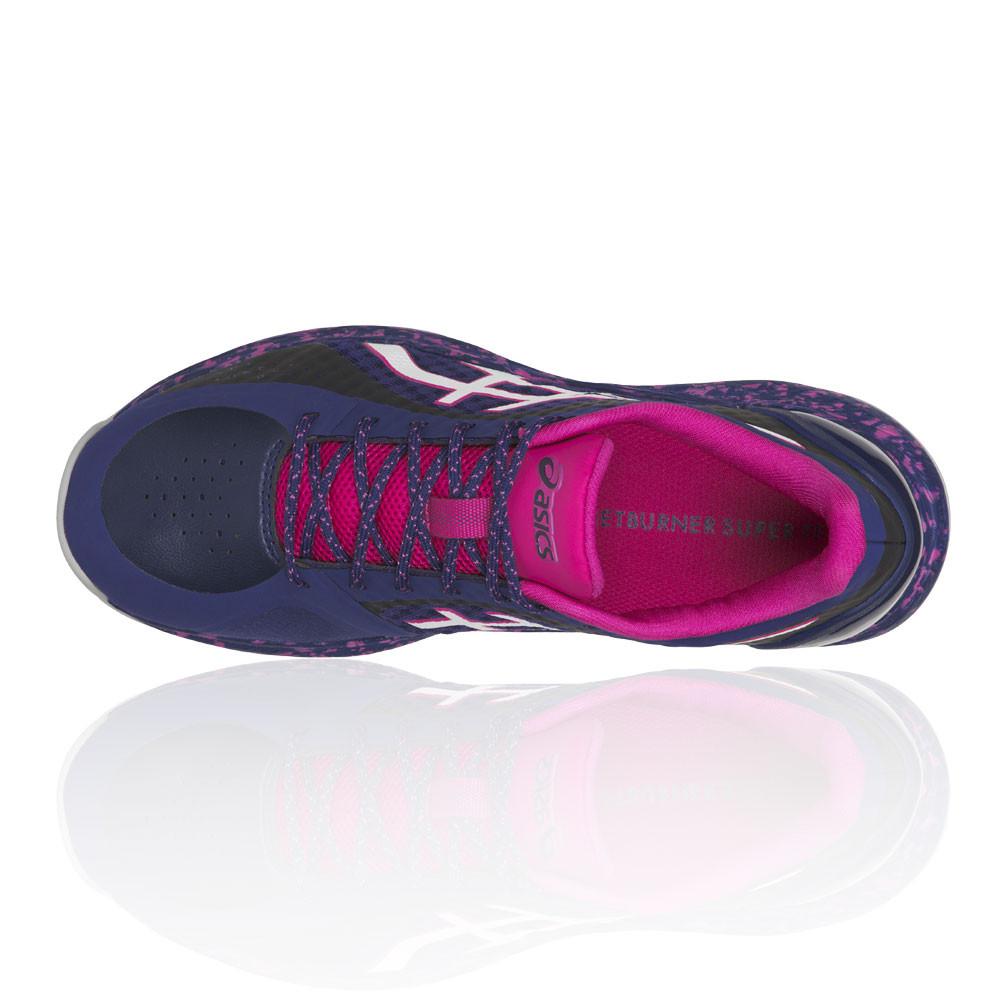 Détails sur Asics Femmes Netburner Super Ff Chaussures De Sport En Salle Baskets Violet
