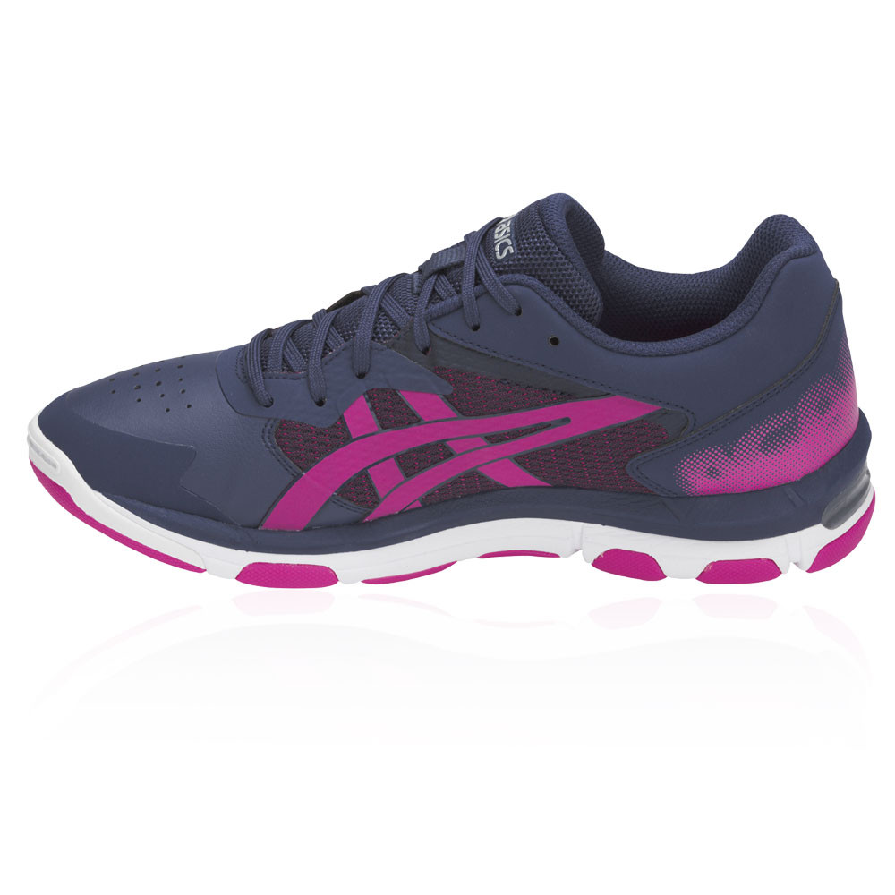 Details about Asics Womens Netburner Academy 8 Netball Shoes Purple Sports Breathable