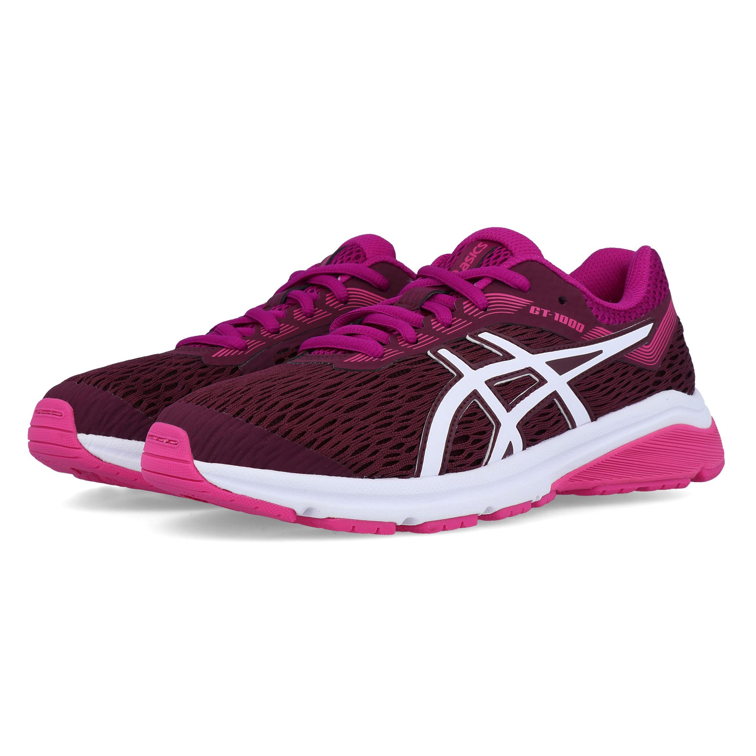 c19ba4269393b Asics Júnior Gt-1000 7 Gs Correr Zapatos Zapatillas Rosa Violeta ...