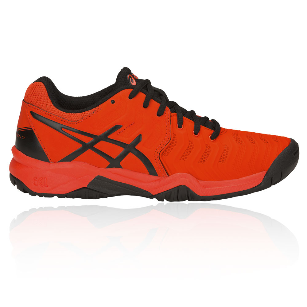 the latest f3f6b a2ecc ASICS Ragazzo Gel-Resolution 7 GS Scarpe Da Tennis Sport Arancione  Traspirante