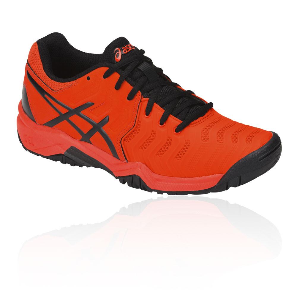f8750d1564995 Asics Garçons Gel-Resolution 7 Gs Enfant Tennis Chaussures Sport Orange  Baskets