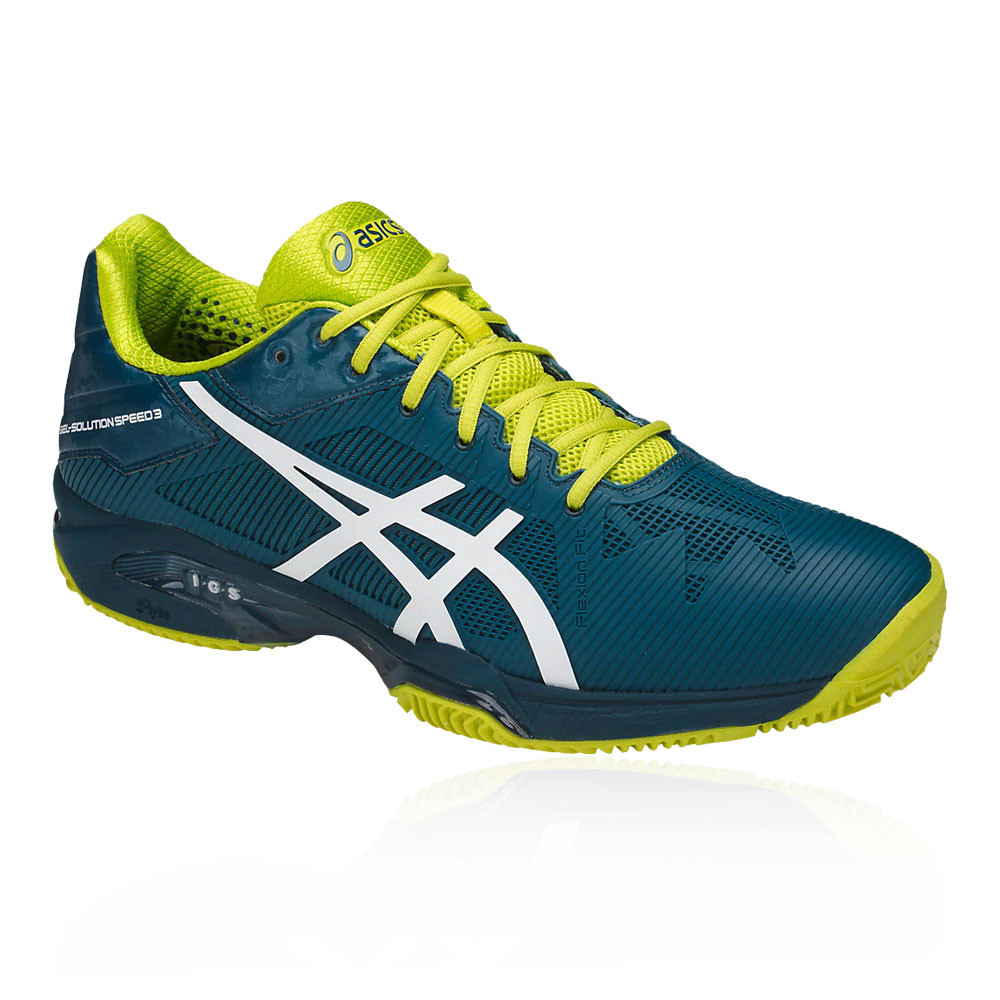 e4c0db5caa Everything has been thought of to provide you with the most durable,  lightweight tennis shoe. Choose Asics Gel Solution Speed 3 Clay, for  fearless court ...