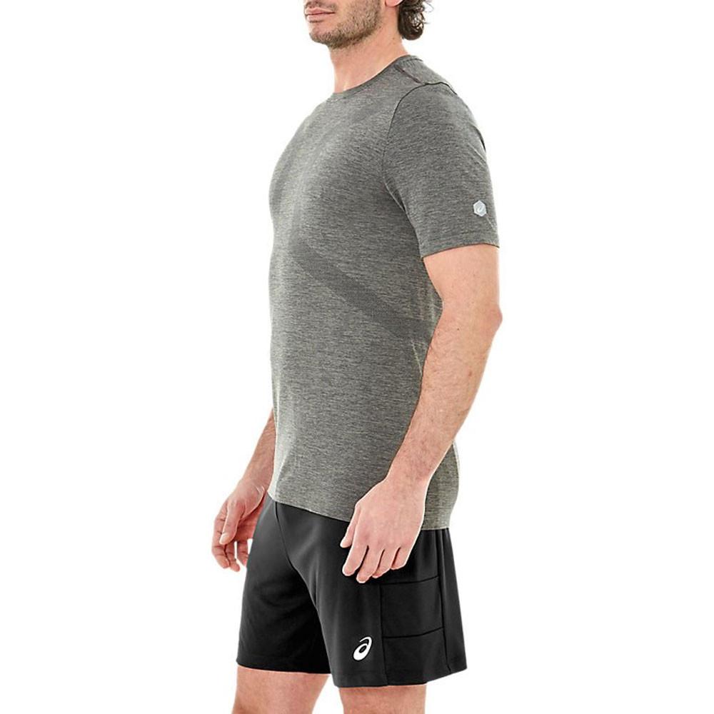 Gym Grau Top Tee Shirt T Kurzarm Nahtlos Asics Fitness
